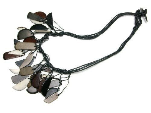 Tagua Fragments Eco Friendly Necklace, Natural/Gray/Brown   http://www.enloops.com/Tagua-Fragments-Friendly-Necklace-Natural/dp/B009I9IT5M