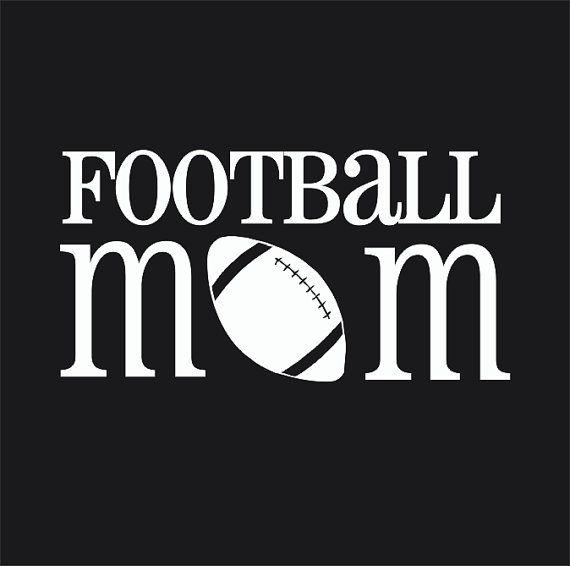Football Mom Car Window Decal Vinyl Decal by ...