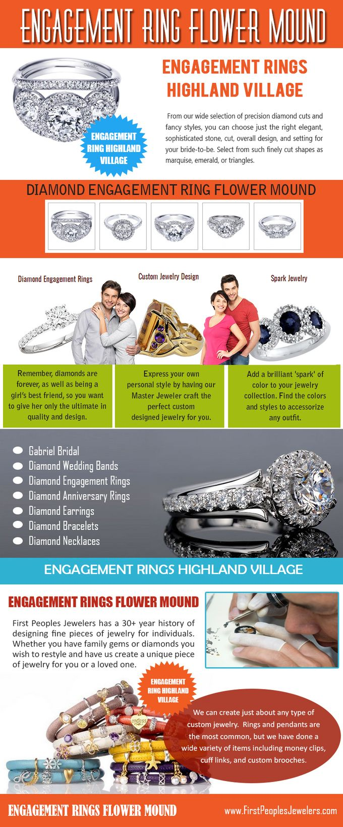 They allow you to create your own diamond engagement ring by just following simple steps. Customers have the option to choose any certified diamond and can get it studded on a platinum ring or gold ring. Let it be diamond engagement ring, platinum engagement ring or emerald engagement ring, you can give your personal touch to all of these rings. Browse this site https://firstpeoplesjewelers.com/ for more information on Engagement Ring Flower Mound.