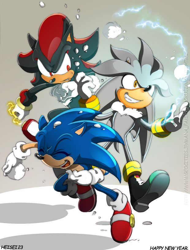 Sonic Shadow And Silver Playing In The Snow Wow A Snowball Fight With These Three Would Be Epic Sonic Sonic The Hedgehog Hedgehog Art