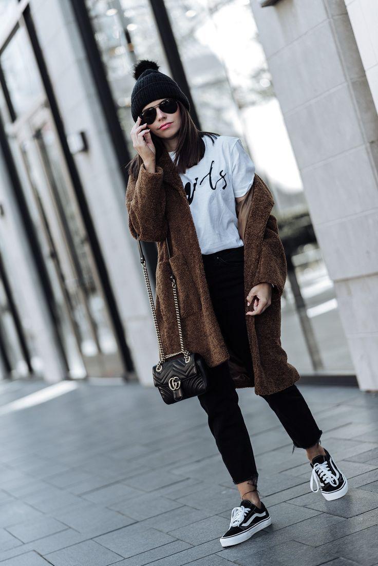 The teddy coat trend 2017 street style fashion women