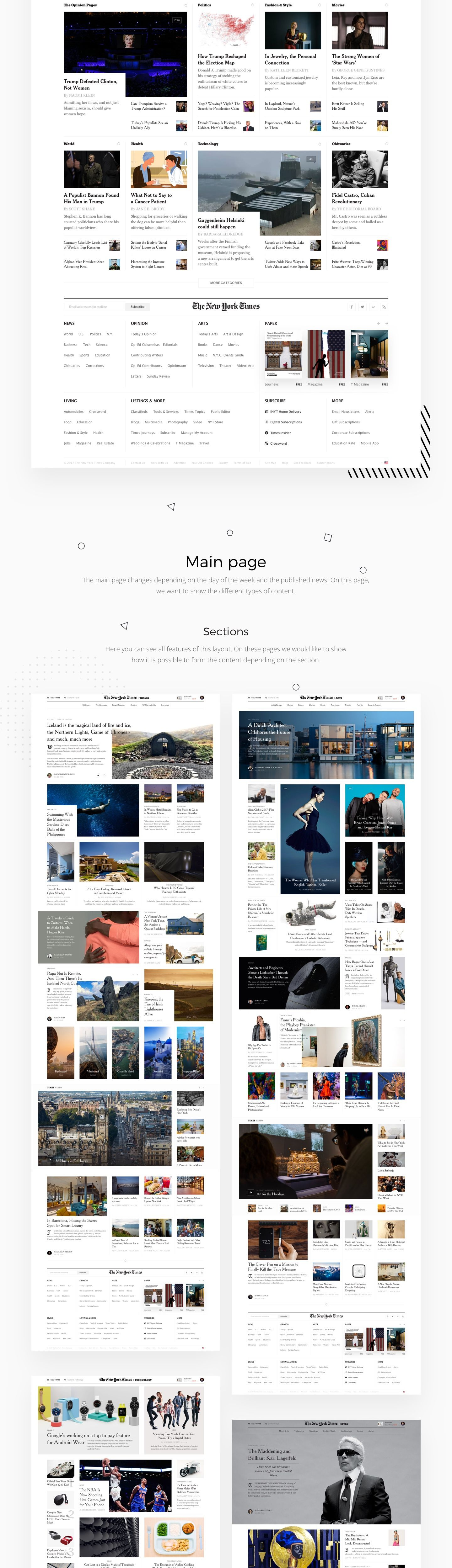 Editorial Design The New York Times Redesign Concept Editorial Design News Web Design Web Design Inspiration