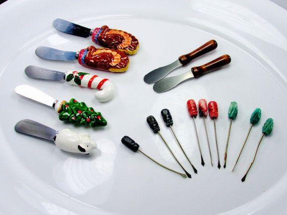 Lot Christmas Kitchenware Holiday Utensils by SunburyVintageStore