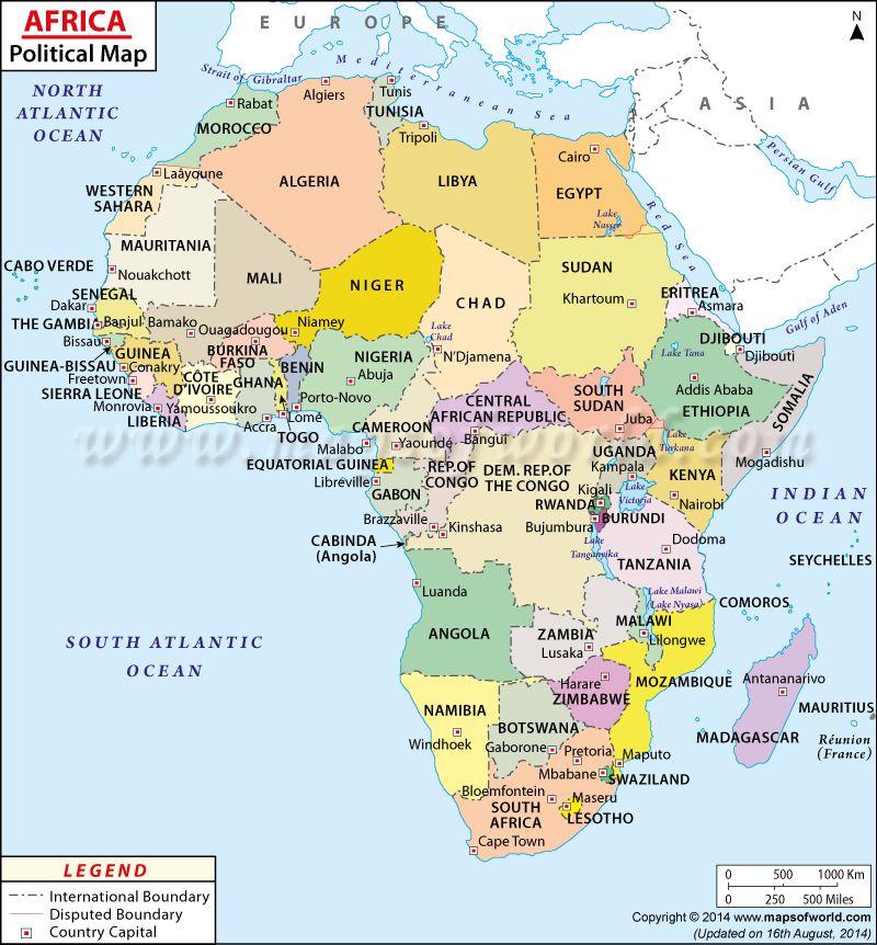 Map Of Africa Afrika Karte Landkarte Afrika Und Marokko Karte