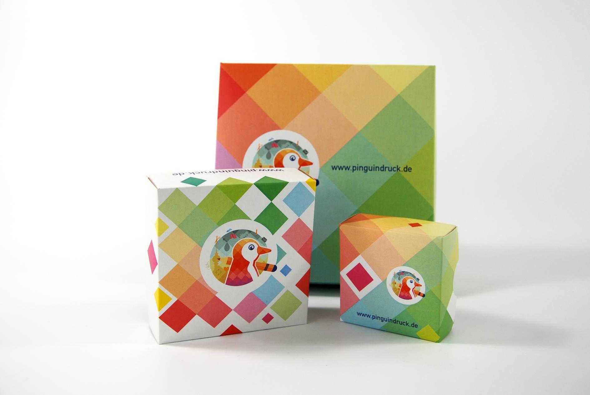Stülpdeckel Verpackungen von Pinguin Druck
