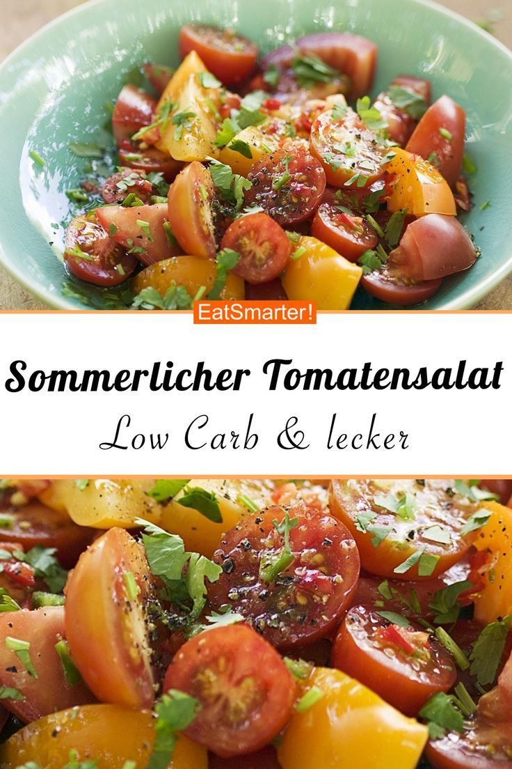 Sommerlicher Tomatensalat - Leckere Low-Carb-Rezepte -