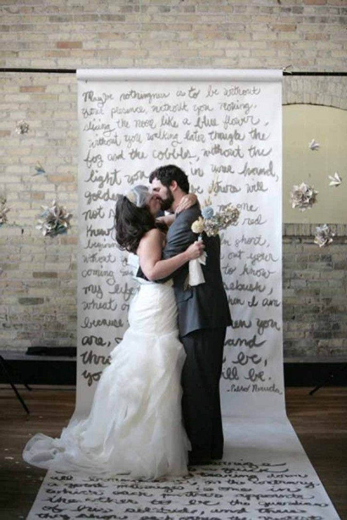 handwriting wedding backdrop weddings on a budget with cheap