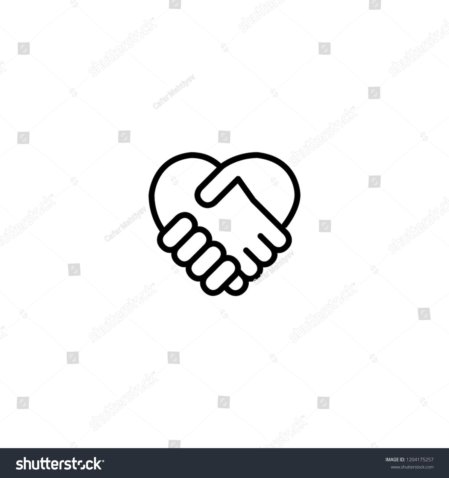 Business Agree Icon Unity Icon Hand Icon Hand And Heart Sign Icon Agree Business Unity Hands Icon Unity Sketch Book
