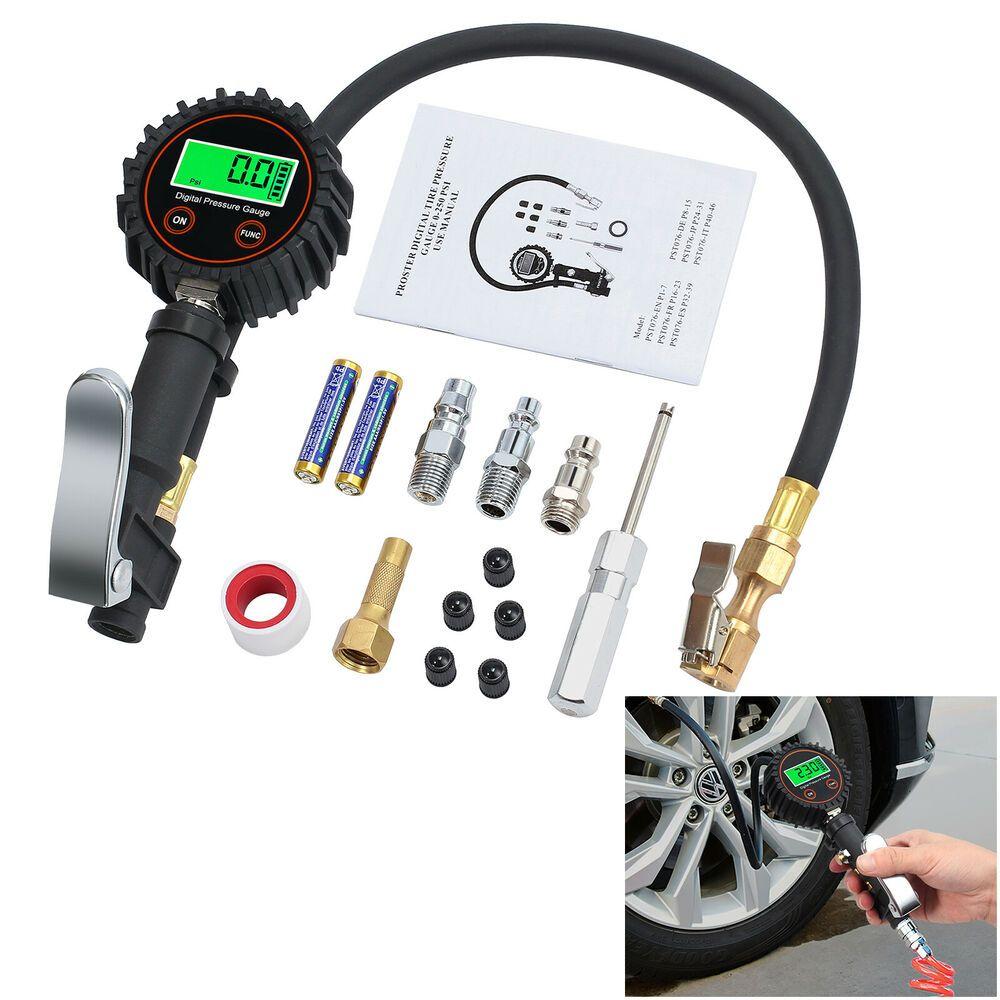 (Advertisement eBay) 250PSI Digital Tire Pressure Gauge