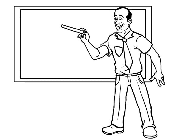Printable Teacher Coloring Sheets - Teacher cartoon ...