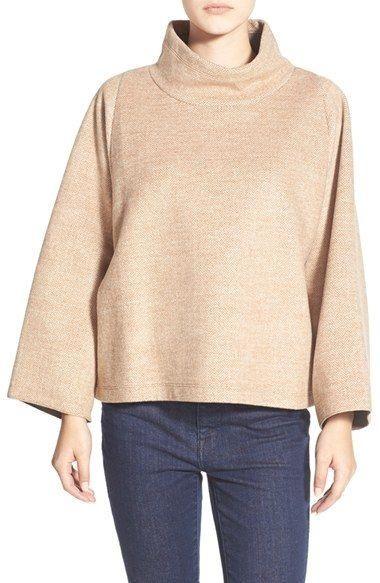Madewell Herringbone  Madewell Herringbone Mock Neck Sweatshirt