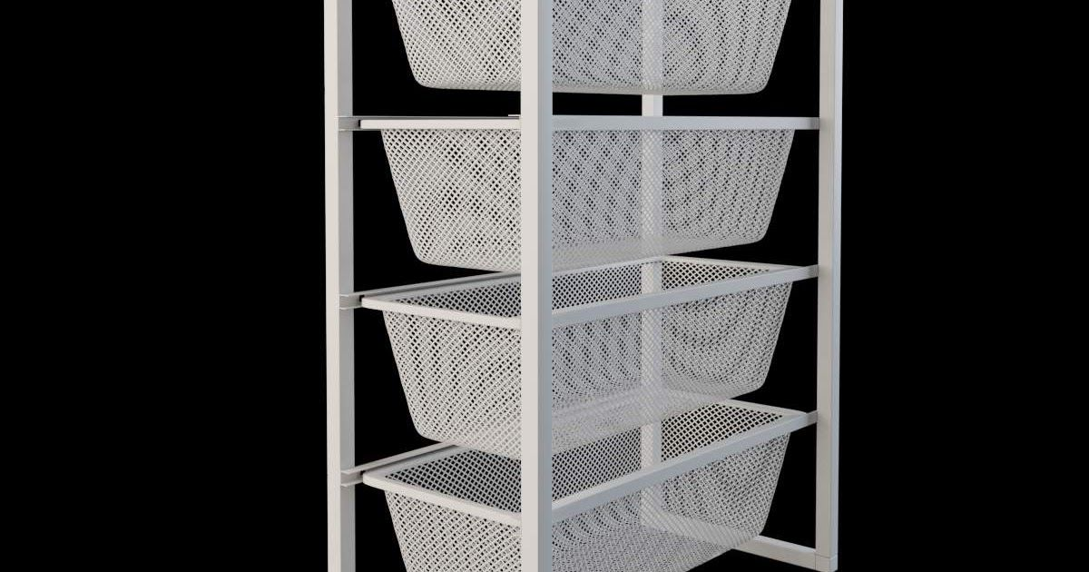 Awesome Ikea Jonaxel Closet In 2020 Ikea Reach In Closet Storage System