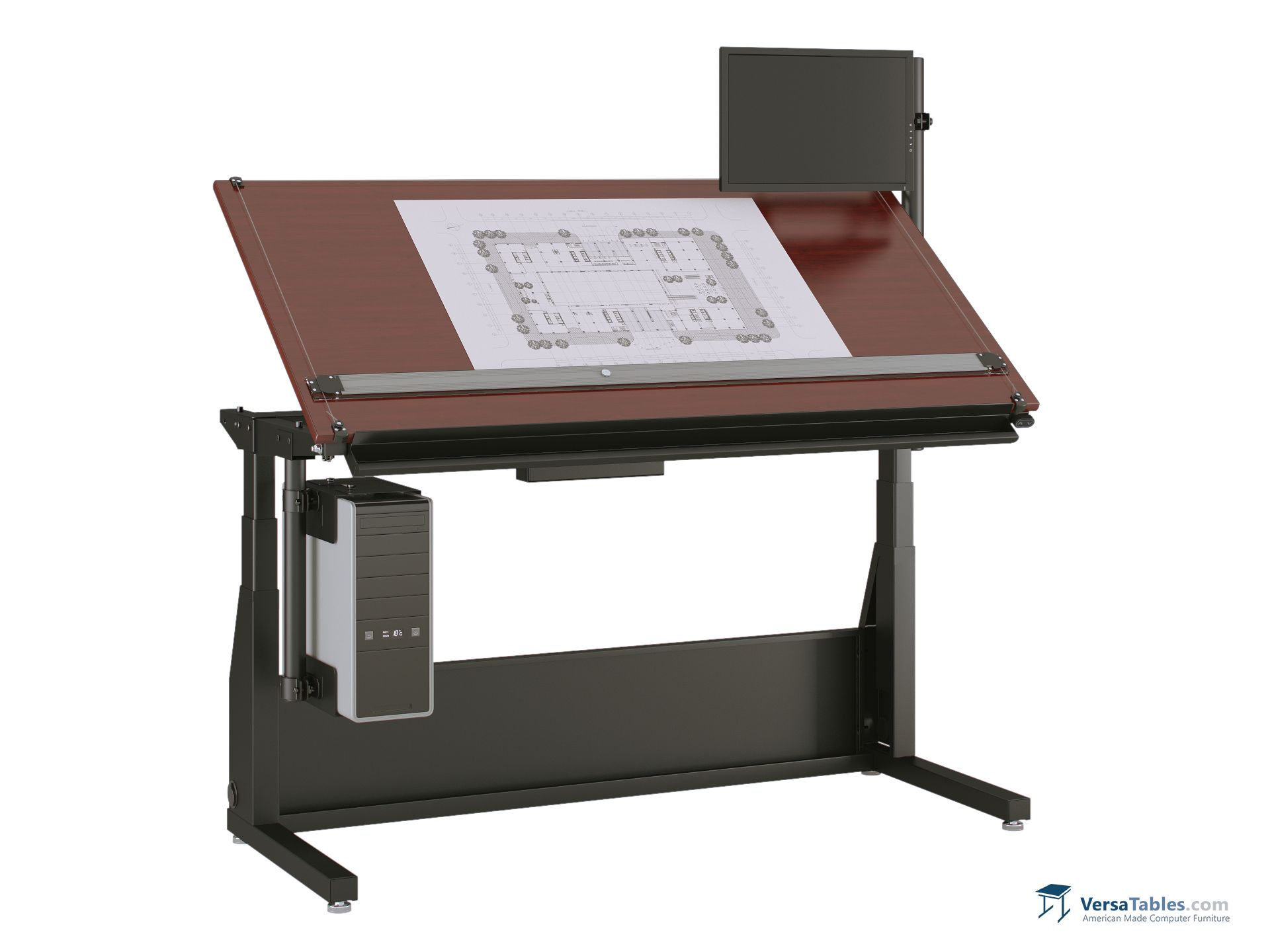 Edison Electric Lift Drafting Table Ele Dt Series By Versa Tables