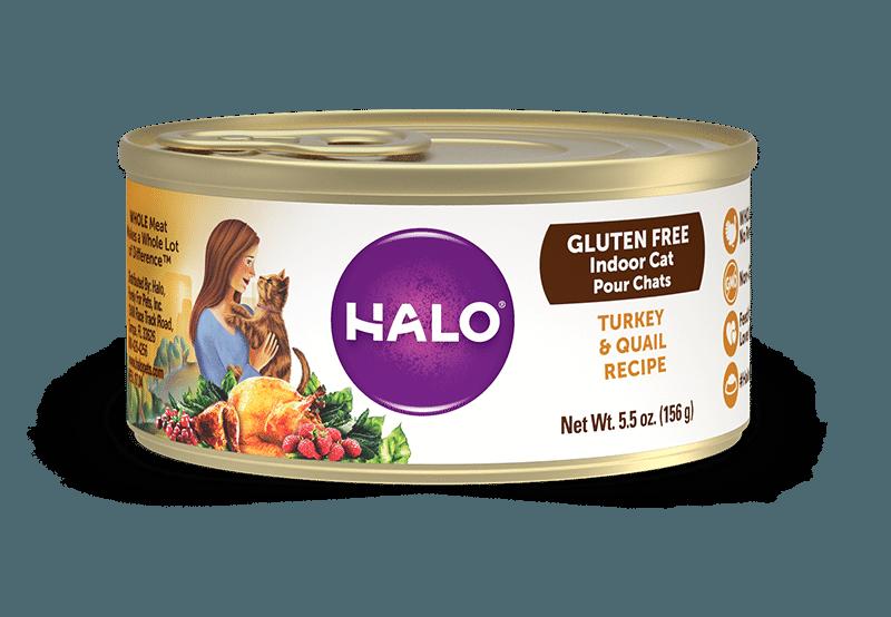 Halo Holistic Gluten Free Turkey & Quail Recipe Canned Cat