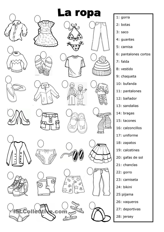 la ropa Más | Languages | Pinterest | La ropa, Ropa y Español