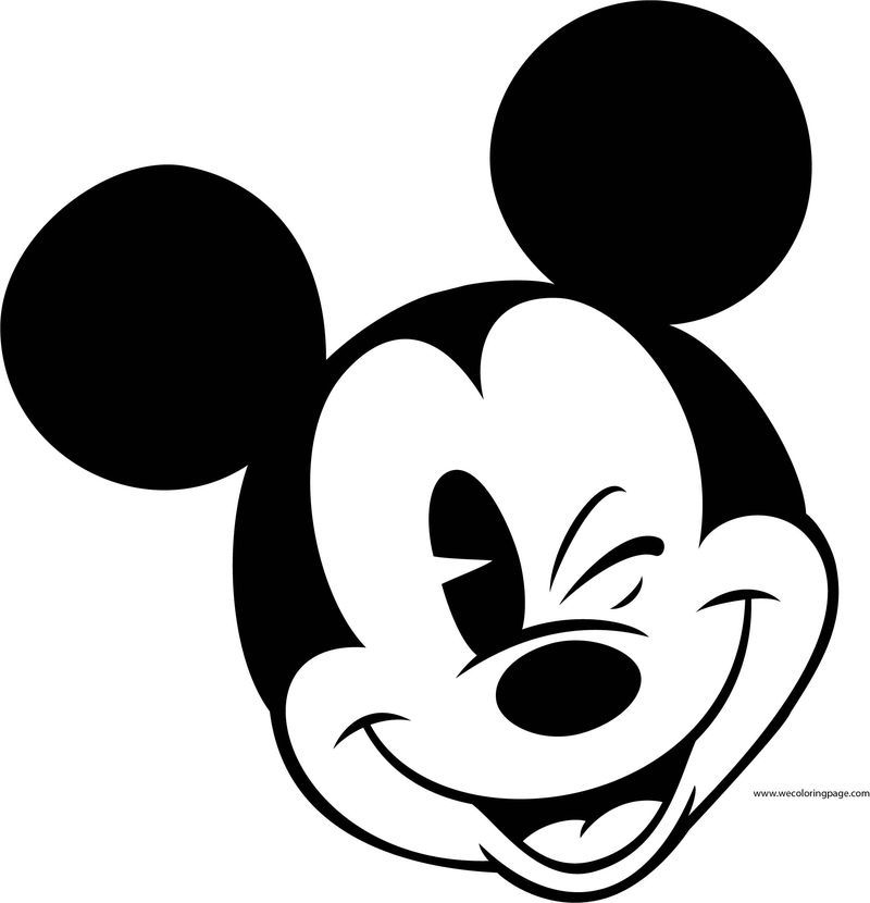 Old Mickey Mouse Face Coloring Page 6 Mickey Mouse Silhouette