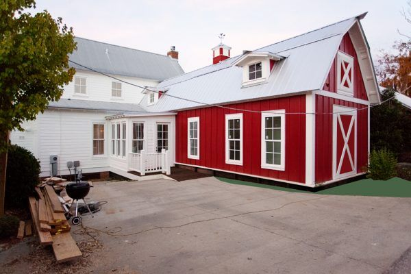 Barn House Addition Caliente Red And Simply White Benjamin Moore