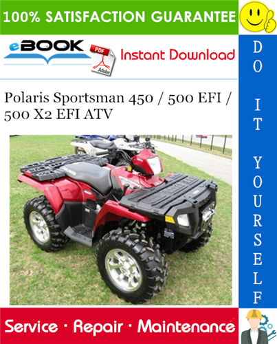 2007 Polaris Sportsman 500 Efi Atv Service Repair Manual In 2020 Repair Manuals Repair Sportsman