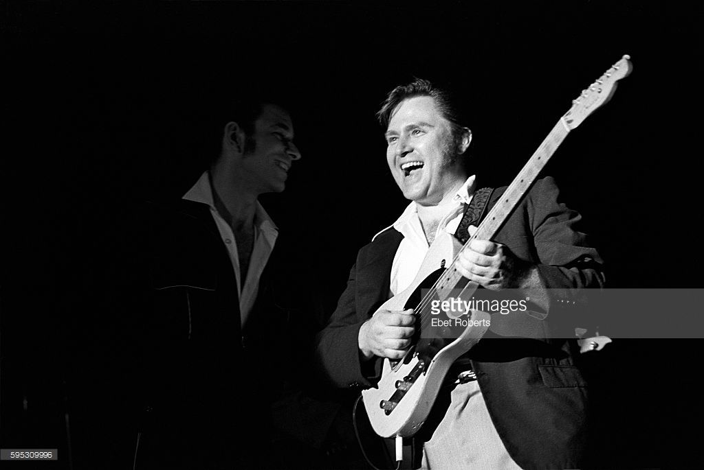 Danny Gatton performing with Robert Gordon at The Ritz in New York City on June 4, 1981.