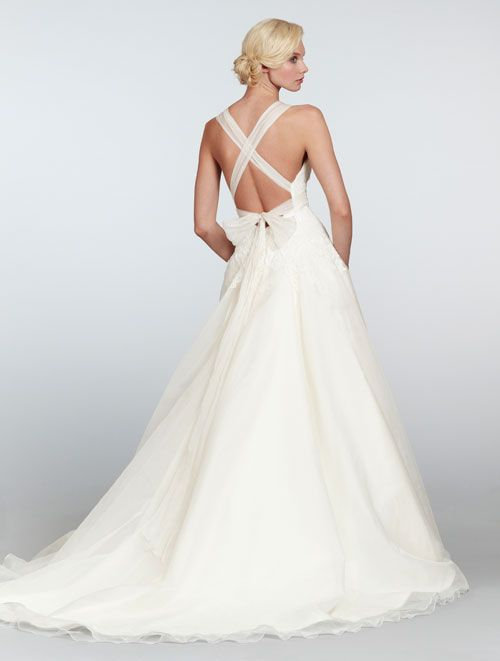 Hayley Paige HP6303 Ivory dropped waist A-line bridal gown ...