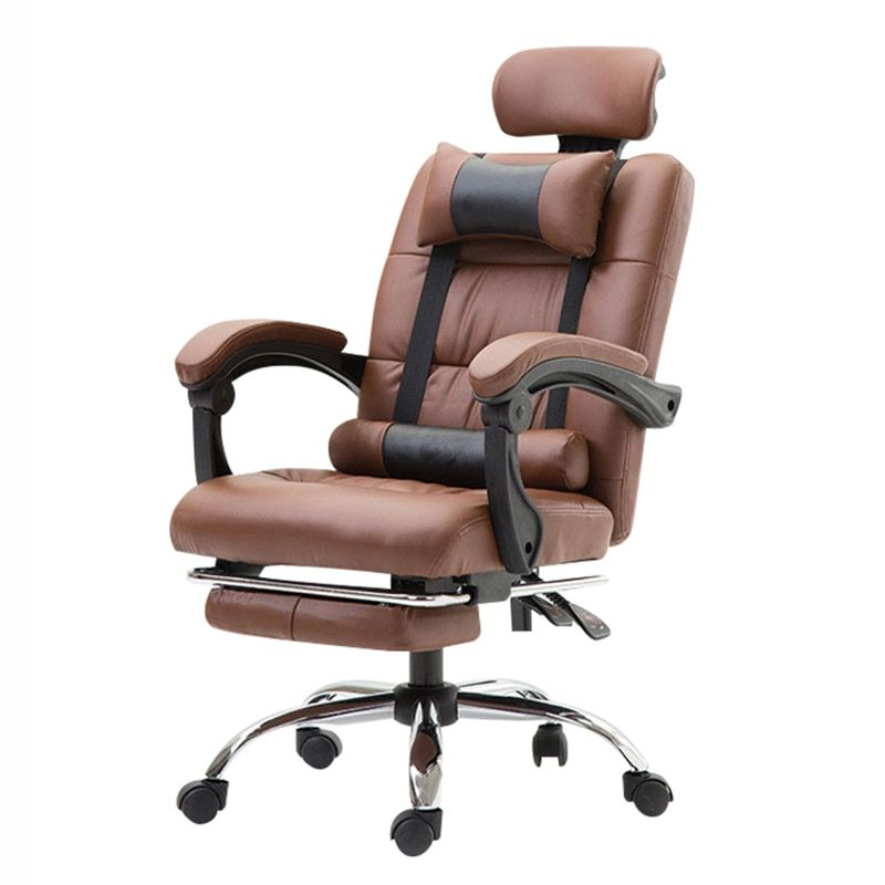 Office Chair Ergonomic Computer Boss Chair With Footrest