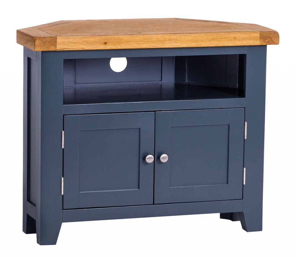 best cheap 0be01 24629 Hampshire Blue Painted Oak Corner TV Unit   For the Home in ...