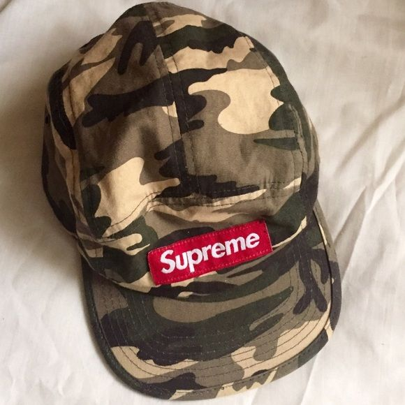 Supreme Camo Hat! Cool Supreme Camp Camo Cap. Adjustable Buckle broken 2a47bf46f43a
