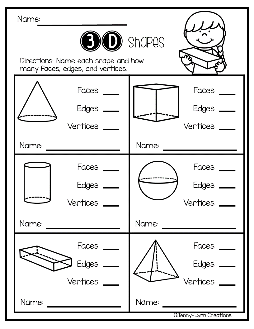 Exploring Shapes 2 D 3 D Shapes Kindergarten Shapes Math Centers Shapes Worksheets