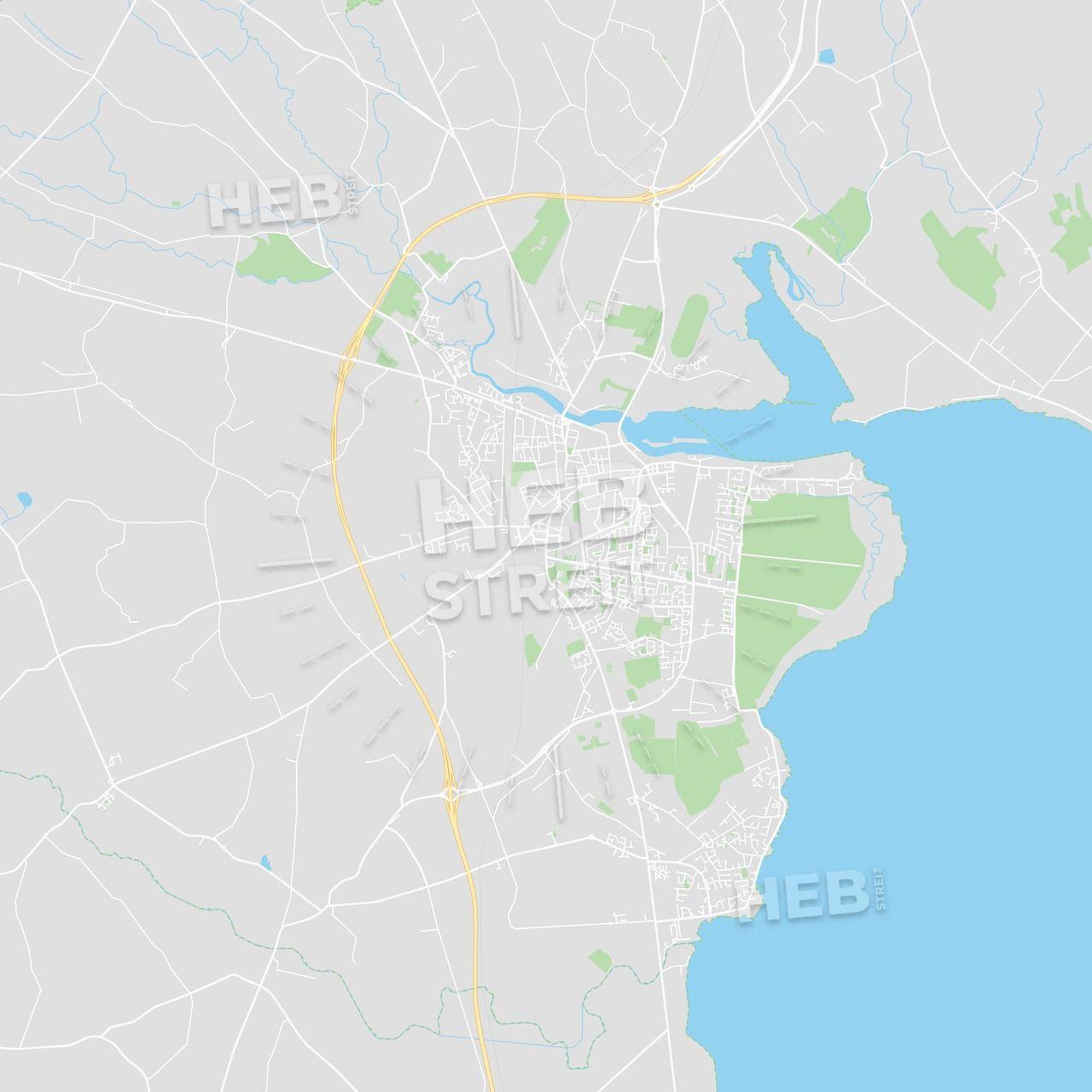 Dundalk Map Of Ireland.Dundalk Ireland Printable Street Map Maps Vector Downloads Map