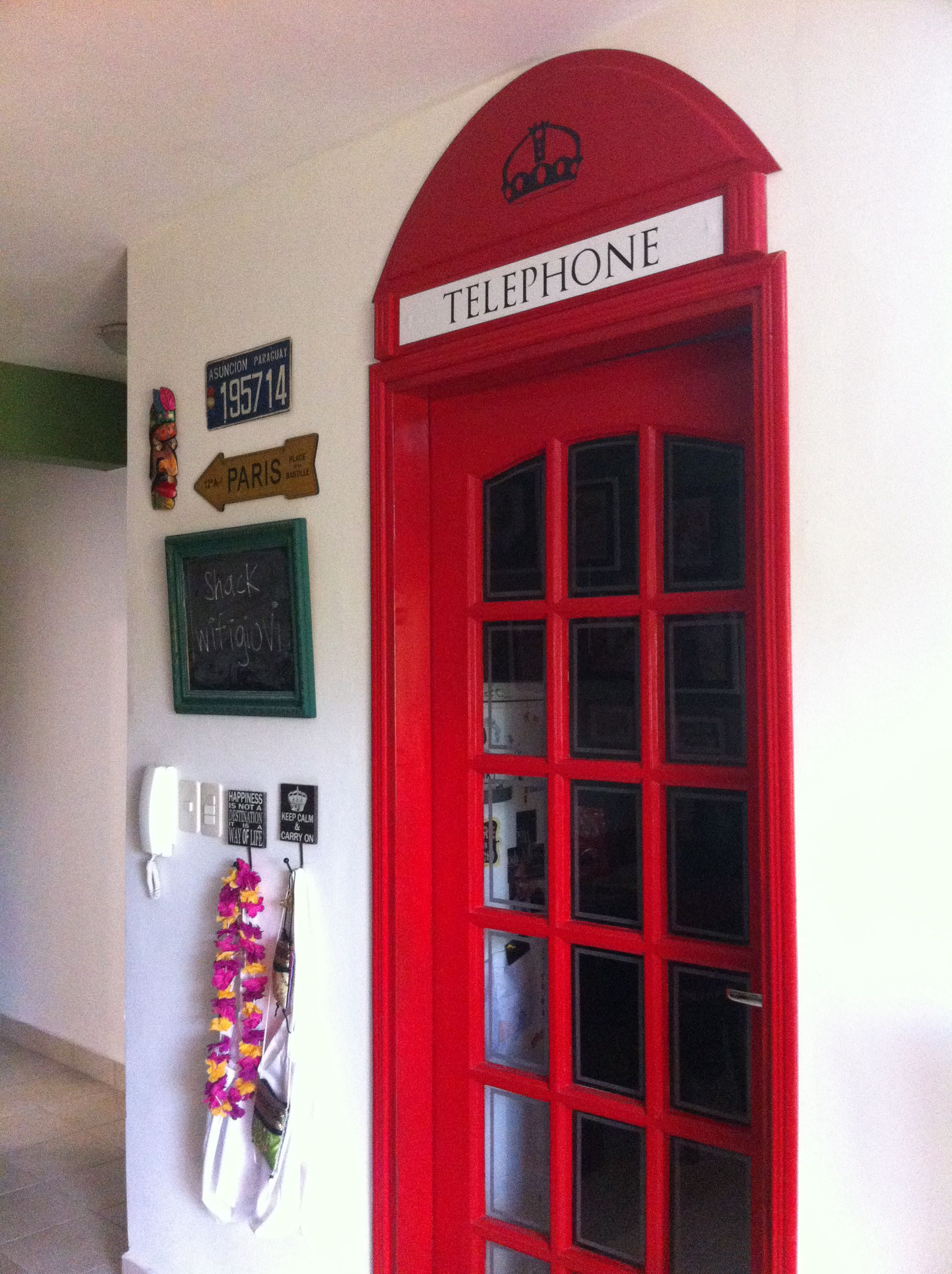 English Phone Booth In House
