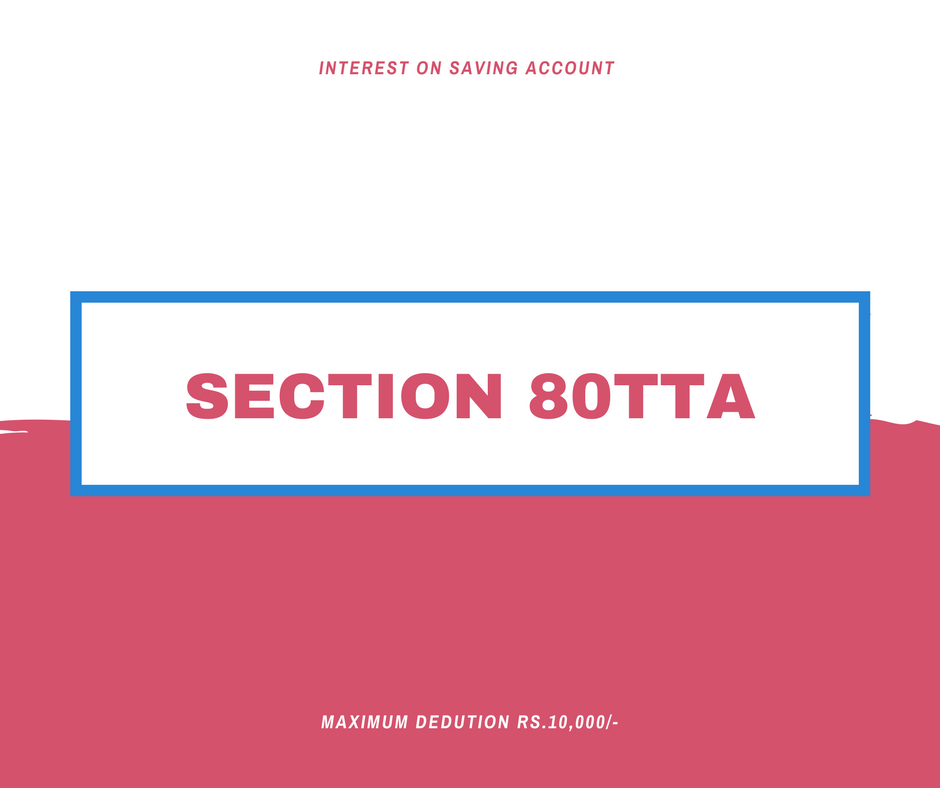Section 80TTA Deduction : Interest On Saving A/c [AY 2018
