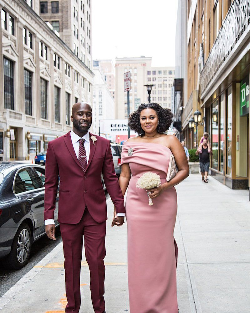 They met on ok cupid and years later got married at the essex county