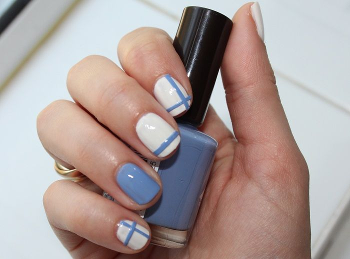 Simple Tips in Creating Stripe Nail Art Two Line Stripe Nail Art ...