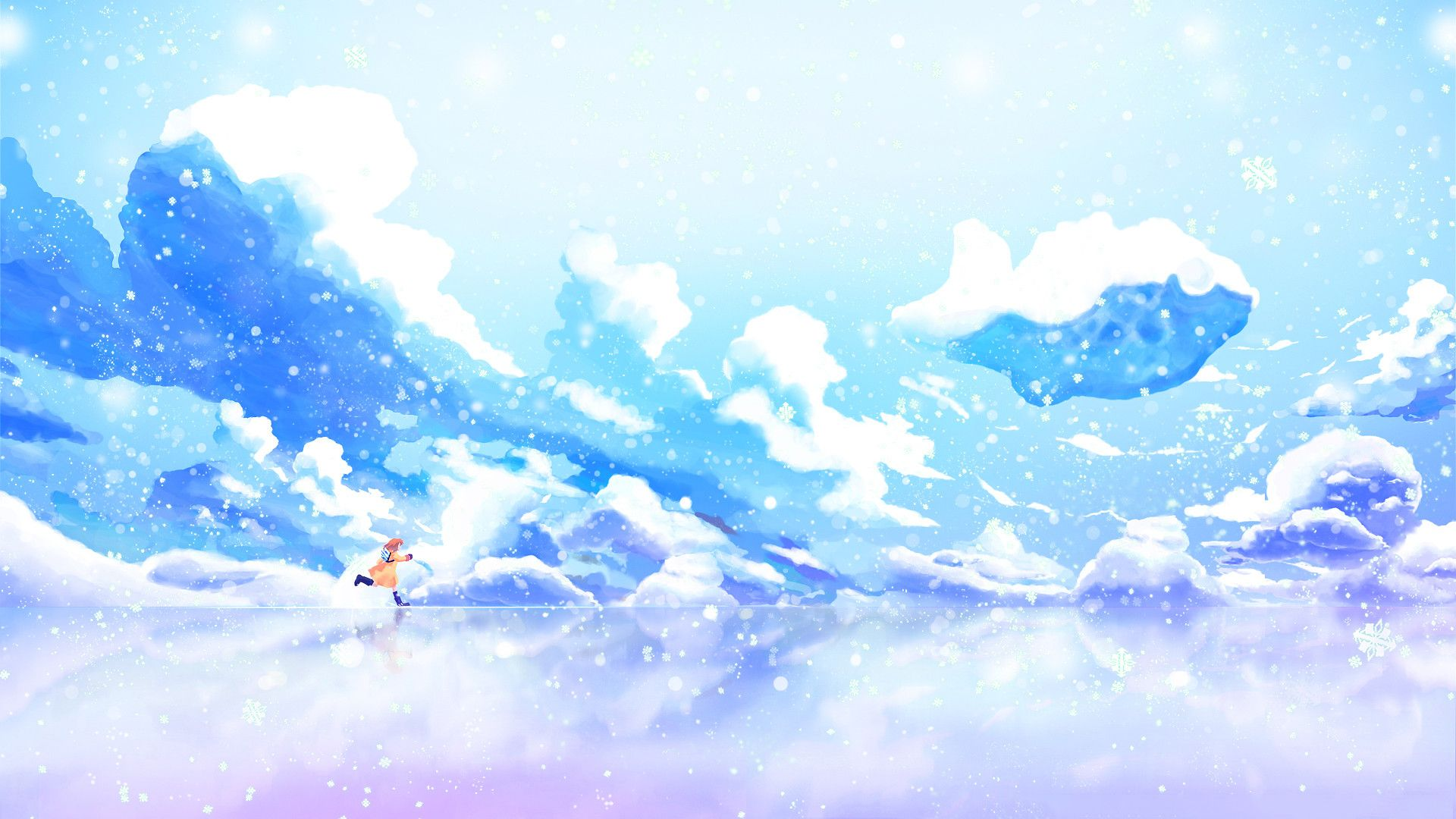 Anime Scenery Ice Free Wallpaper Desktop 27289 Wallpaper