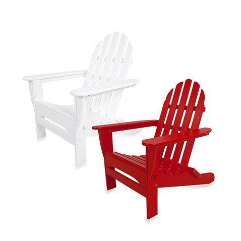 Sensational Buy Polywood Classic Folding Adirondack Chair From Bed Bath Ibusinesslaw Wood Chair Design Ideas Ibusinesslaworg