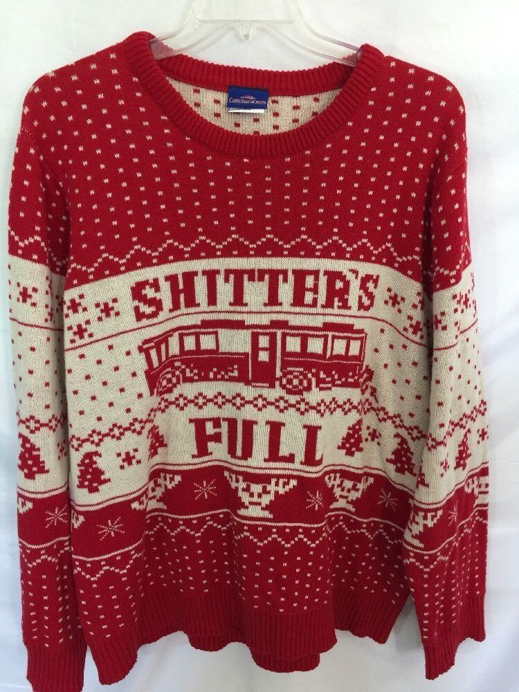 73b87cbf406 National Lampoon s Christmas Vacation Knit Ugly Sweater Shitter s Full Size  2XL  NationLampoonsChristmasVacation  Crewneck
