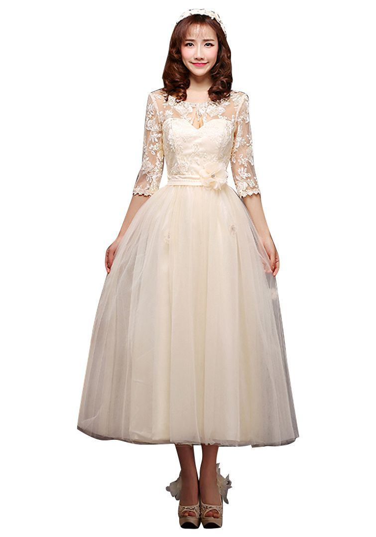 Mid calf modest bridesmaid dress dresscab modest bridesmaid