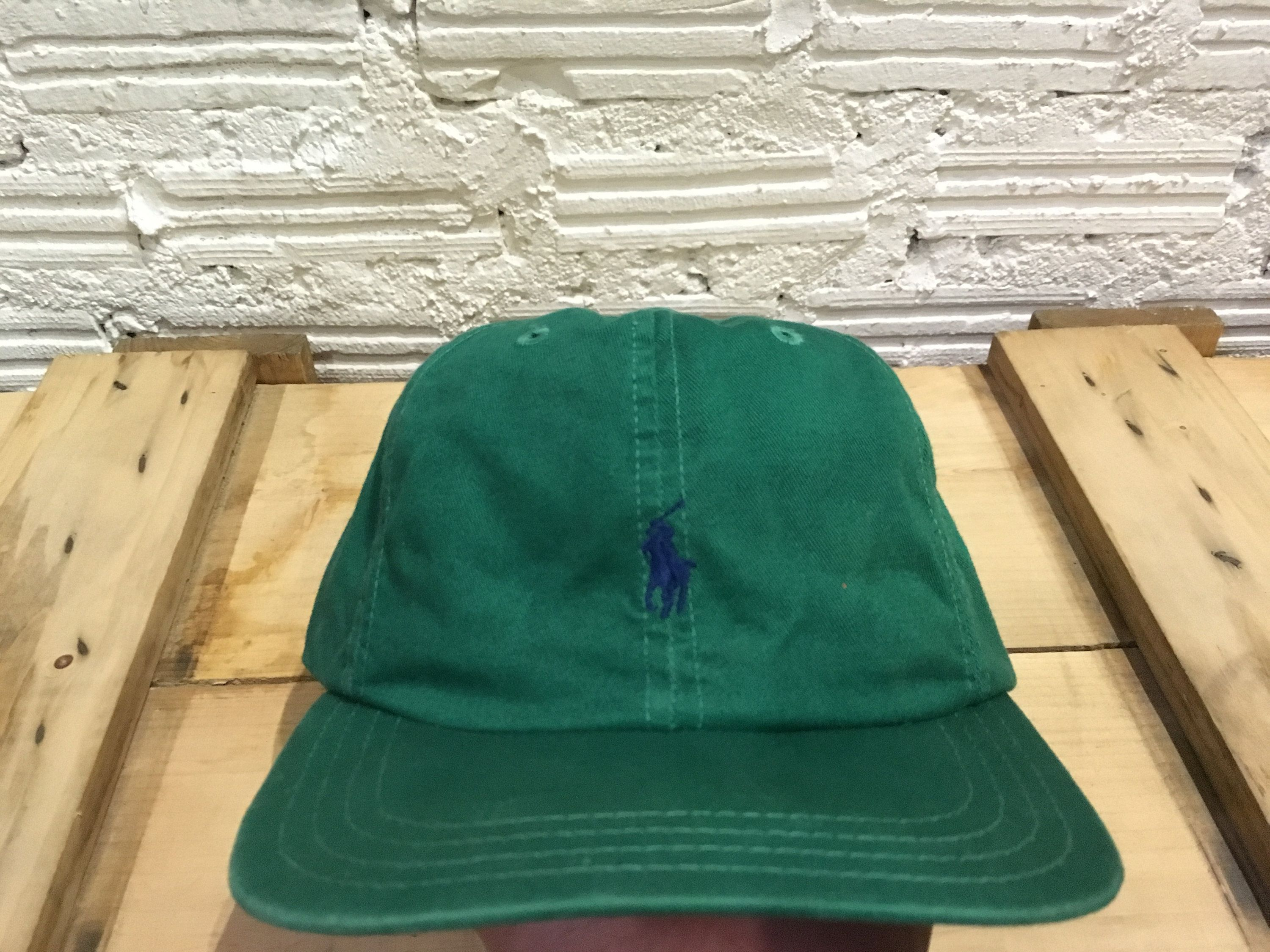 222c073a4b7da Vintage Polo ralph lauren cap small pony adjustable cap strapback Green Good  condition Made in usa by AlivevintageShop on Etsy