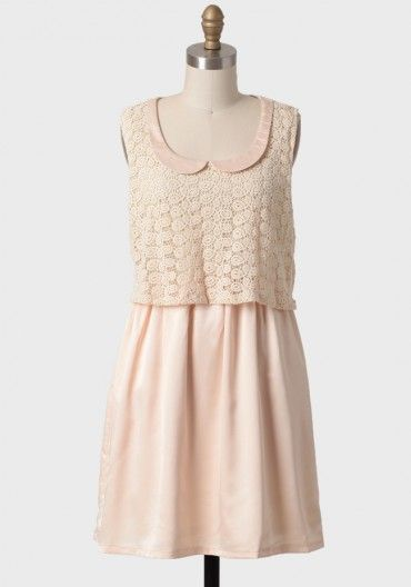 Sugared Peach Lace Dress By Tulle