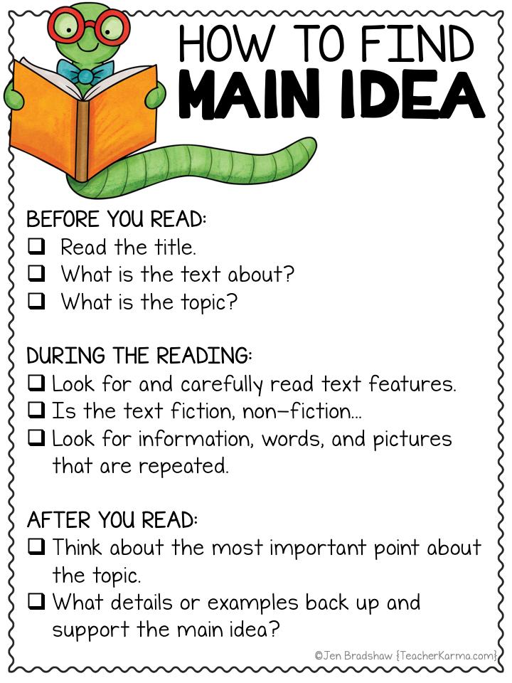 How To Find Main Idea Poster Freebie Mainidea Readingcomprehension Readingfreebie Reading Comprehension Strategies Main Idea Anchor Chart Reading Main Idea