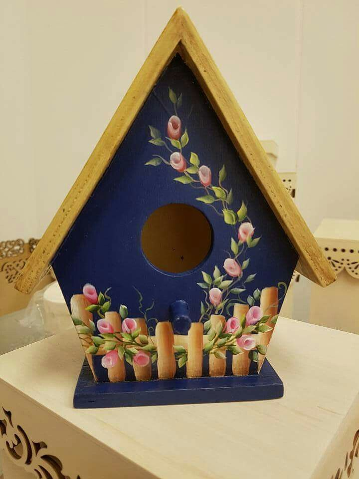 brand-new idea bird house painted pattern : These free ...