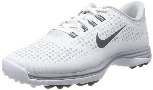 timeless design dd2bd f6aa9 Nike Golf women s Lunar Empress Wide Golf Shoe,White Dark Grey Pure  Platinum,7 W US