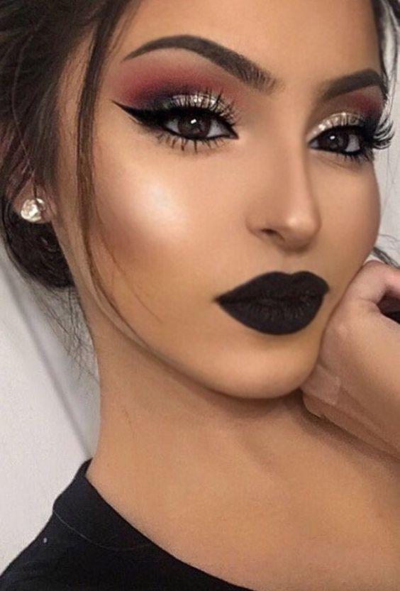 Maquillaje Para Ojos Para Un Vestido Negro Vestidos Baratos