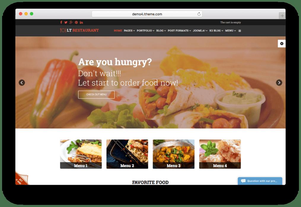 lt restaurant food order restaurant joomla template