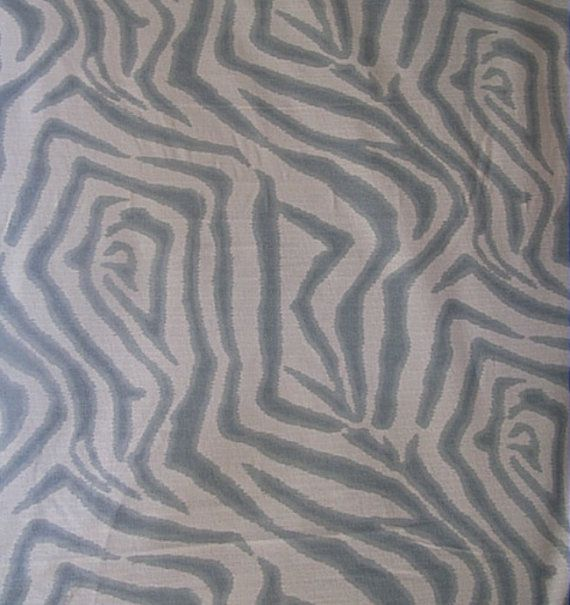 ZEBRA ikat in Spa FLAX one yard min need more let by reneesfabrics, $24.50
