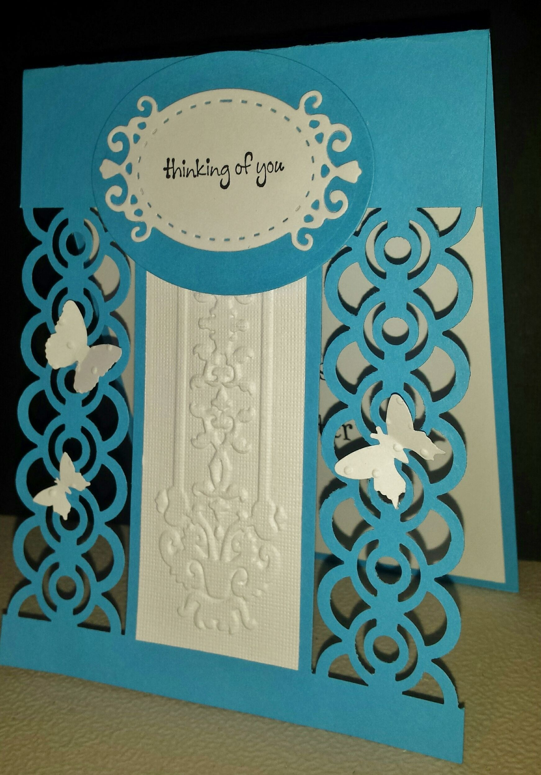 Bangle chain punch card greeting cards handmade cards