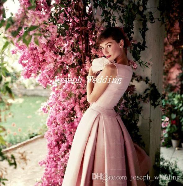 Audrey Hepburn by Norman Parkinson Light Pink Cocktail Party Dress ...
