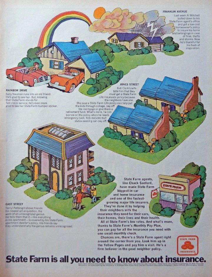 State Farm Insurance 60 S Print Ad Illustration Easy Street Jone S