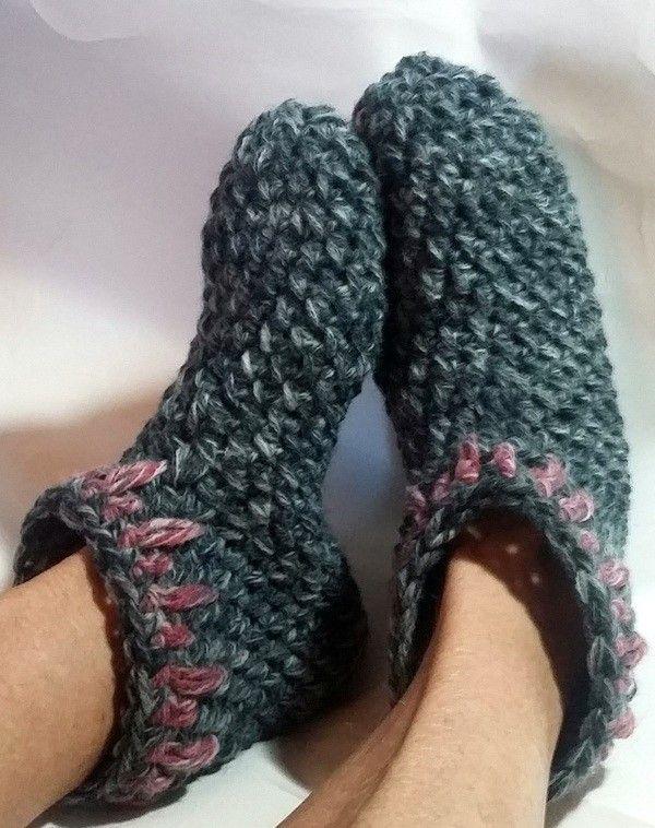 Photo of Socken häkeln // Haussocken / schnell gemacht