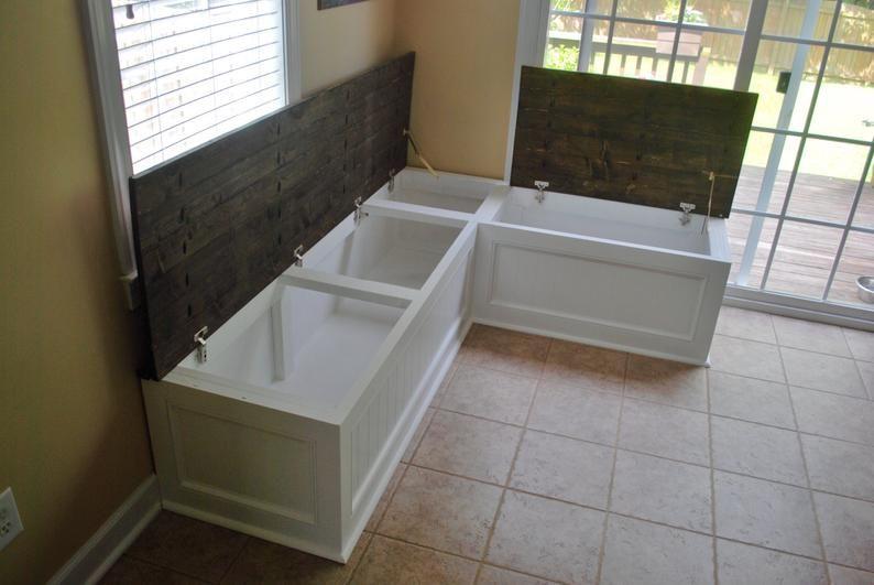 Corner bench kitchen seating L shaped bench FREE | Etsy